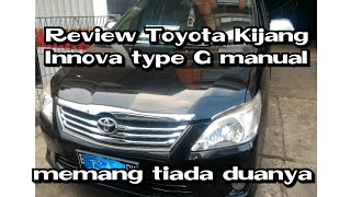 Review Toyota Kijang Innova Type G manual 5speed Indonesia