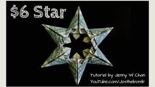 Christmas Crafts - Diy How To Make Star Money Origami - Dollar Origami - Gift / Decoration Tutorial