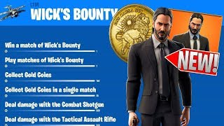 The New Fortnite JOHN WICK SKIN LEAKS IN GAME VIEW, FREE BACKBLING AND LTM !