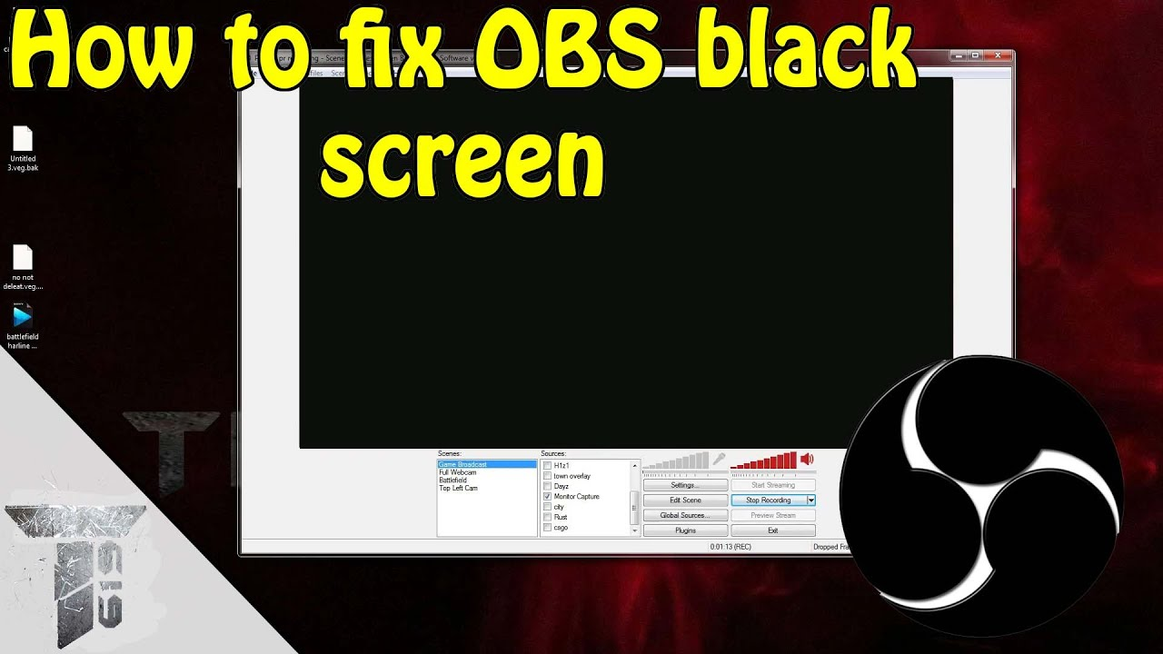 Obs Game Capture Black Screen