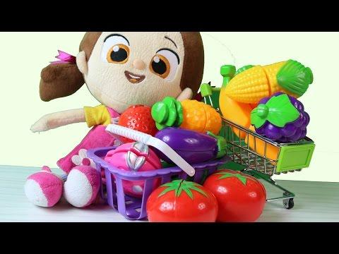 Niloya Pazar Alışverişinde Sebzeler ve Meyveler ile Yemek Hazırlıyor
