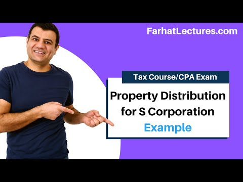 Example Property Dividend Distribution For C Corporation Corporate Income Tax CPA REG Ch22 P7