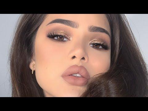 Как сделать самой вечерний макияж для карих глаз