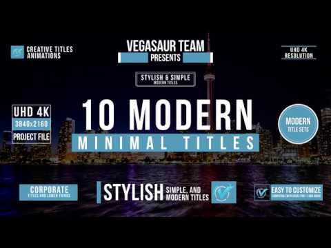 Titles Vol.1 | VEGAS Pro Template