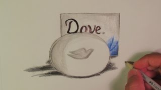 Realistic Dove Soap (Speed Drawing)