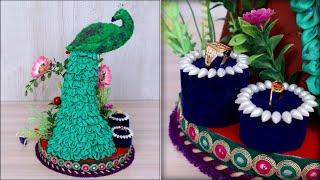 Engagement Ring Tray decoration | How to make Decorative Round Tray | Wedding Tray