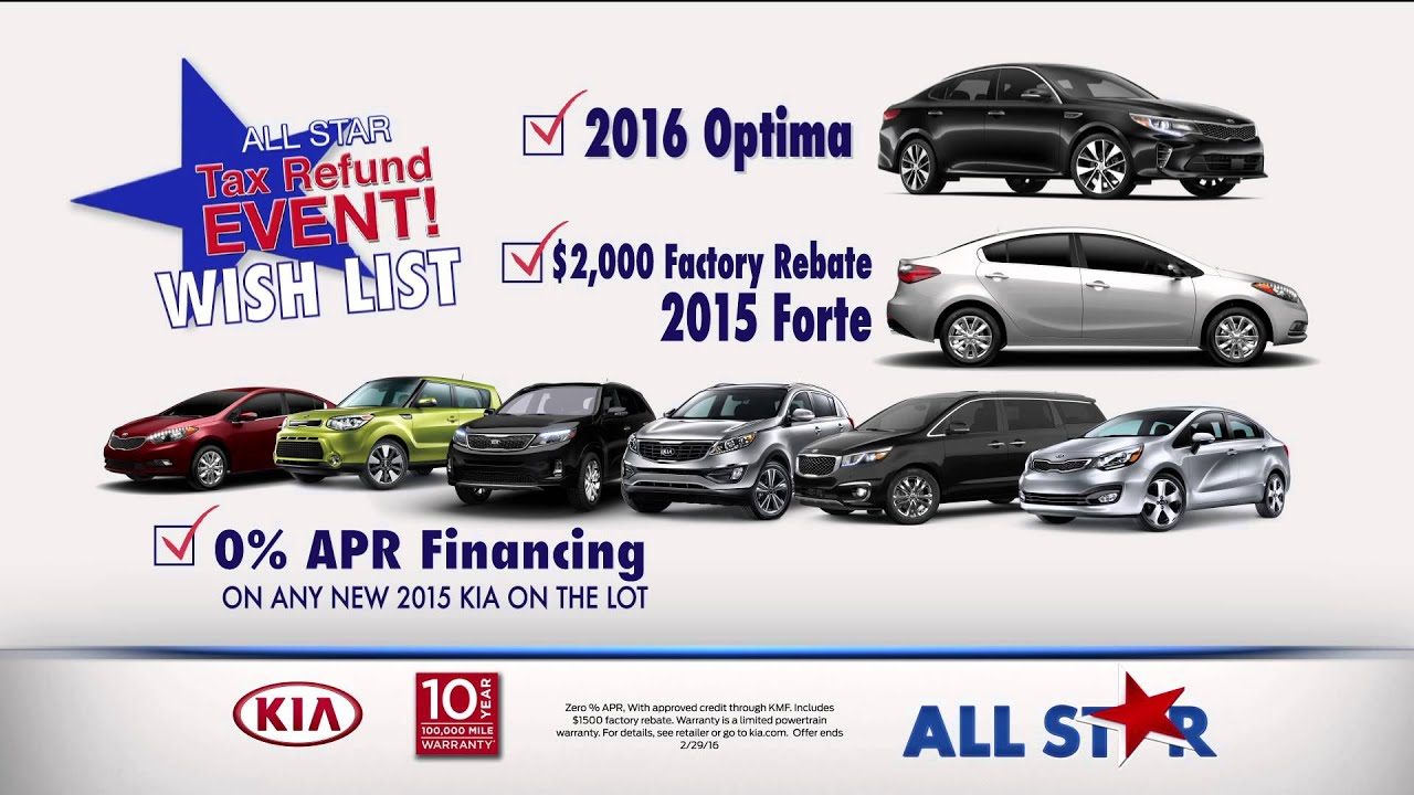 All Star Kia East February TV mercial Tax Season