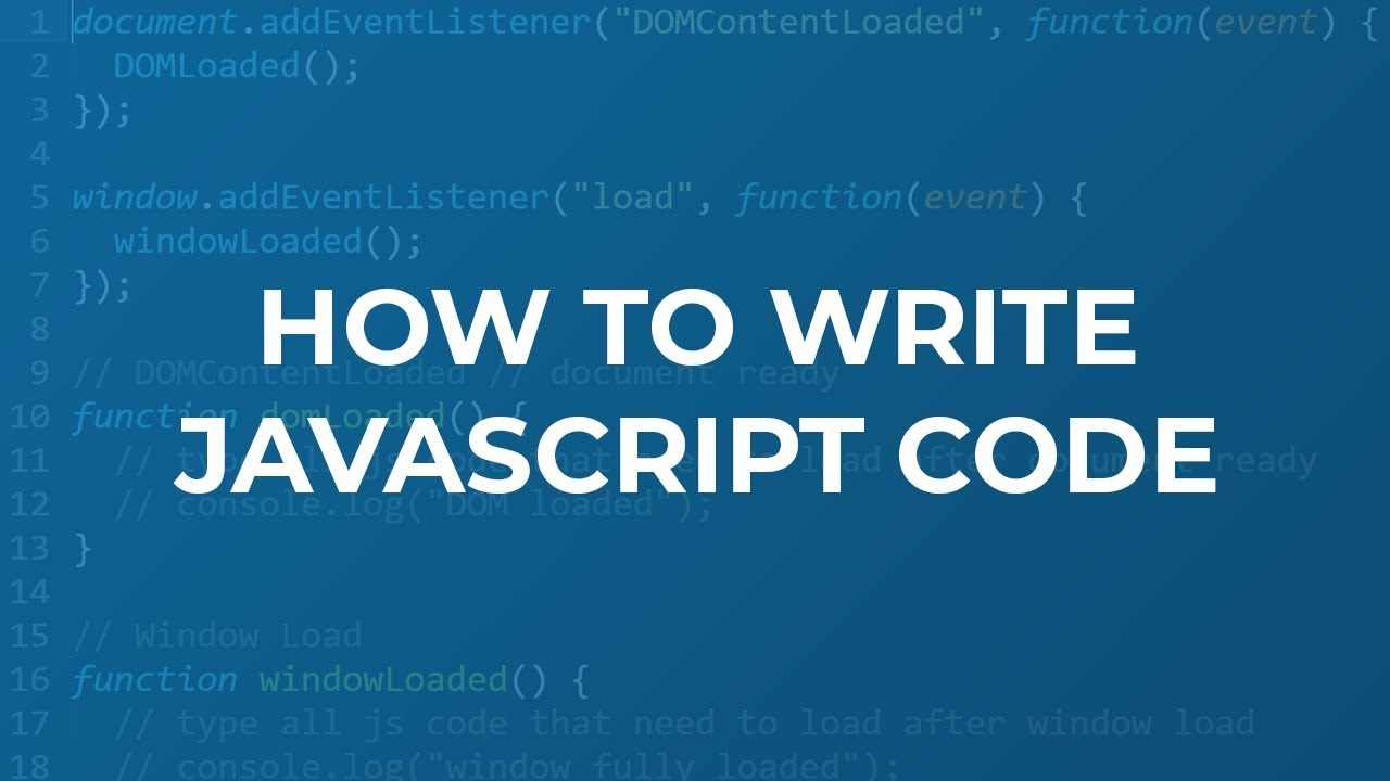 How to Write Your Own JavaScript Code (Method / Pattern / Rules)