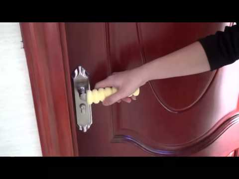 Baby safety Door Handle Cover & Baby safety Door Handle Cover - YouTube