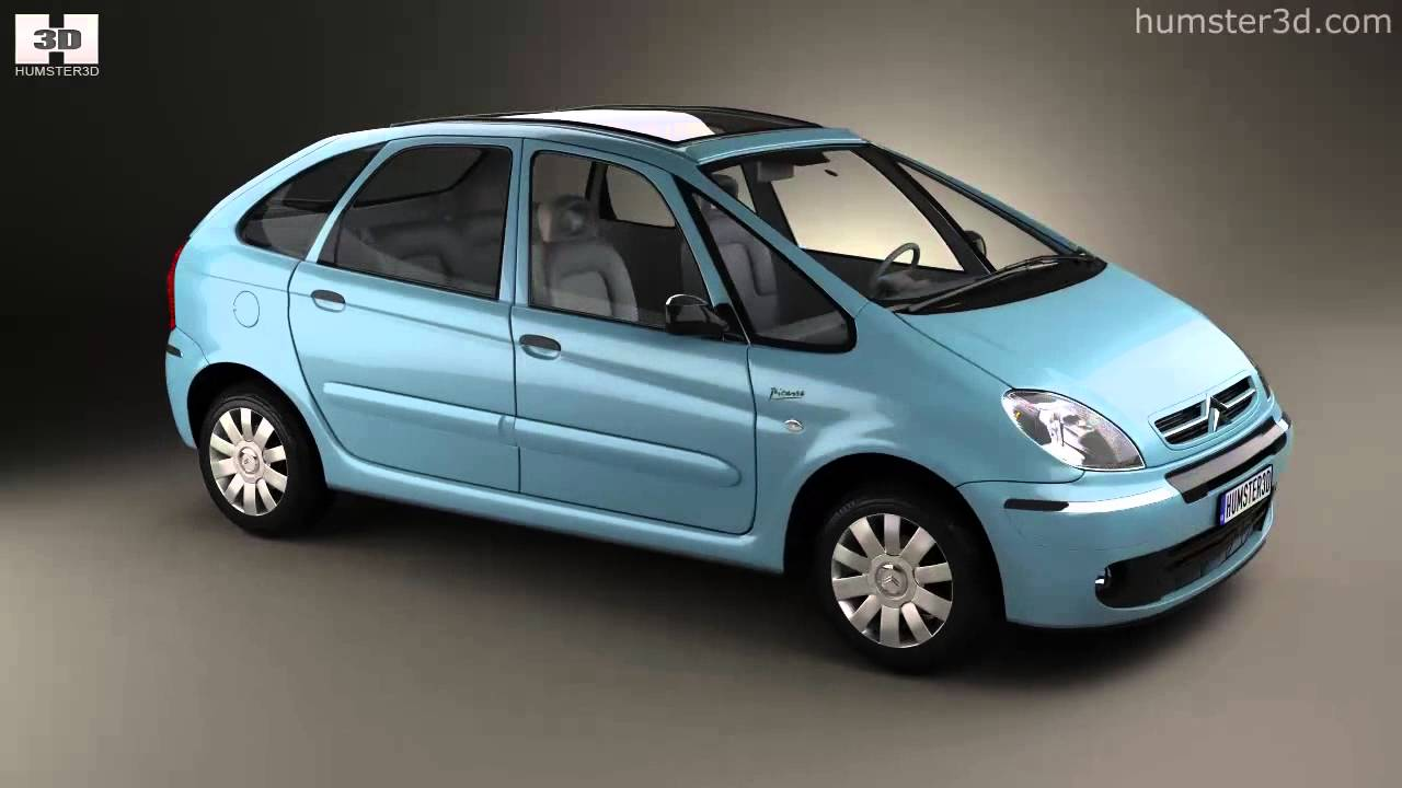 citroen xsara picasso 2004 by 3d model store youtube. Black Bedroom Furniture Sets. Home Design Ideas