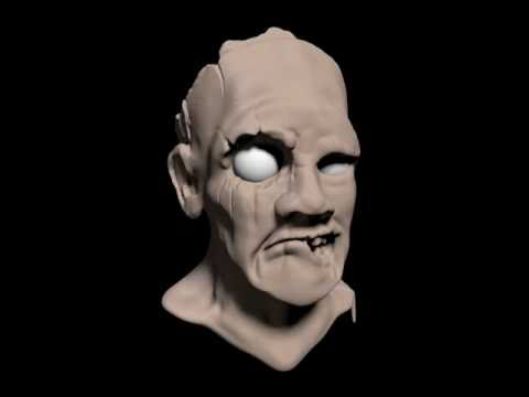 Zombie Head Sculpt 360
