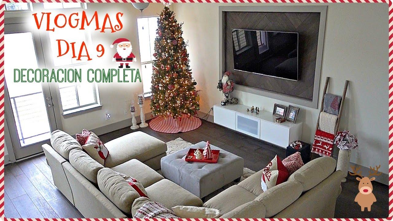 Decoraci n navide a de nuestra casa vlogmas dia 9 youtube - Decoracion navidena de casas ...