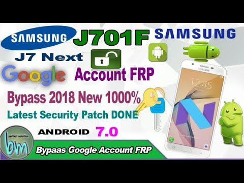 J7 Next (J701F) Frp Bypass only 5 second boot file trick 2018   By:-Bajrang  Mobile