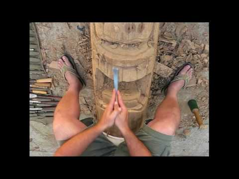 How To Carve Tiki S Tiki Carving Steps By Crazy Capizzi