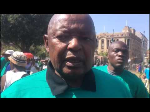 Mosiuoa Lekota speaking during #BlackMonday protest at Church Square