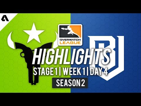 Houston Outlaws vs Boston Uprising | Overwatch League S2 Highlights - Stage 1 Week 1 Day 4