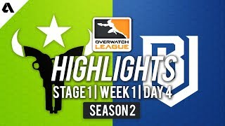Houston Outlaws vs Boston Uprising   Overwatch League S2 Highlights - Stage 1 Week 1 Day 4