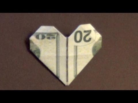 Dollar Origami Heart Tutorial - How To Make A Dollar Heart