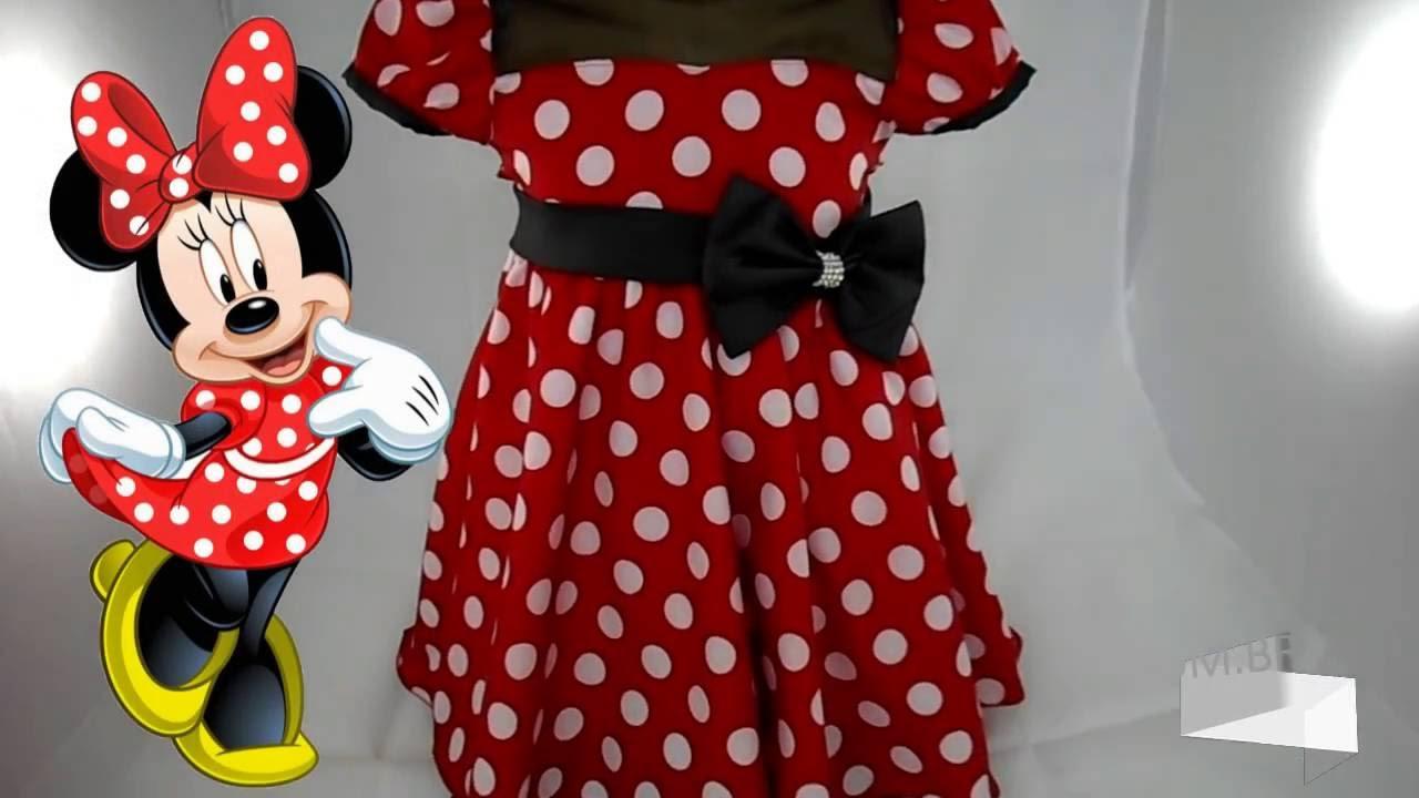 Vestido Minnie Vermelha Com Bolinhas Brancas Youtube