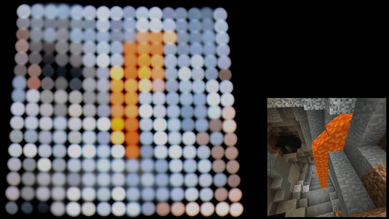 Playing Minecraft on a 16x16 RGB LED Matrix DEMO