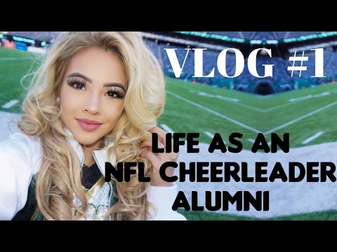 "My First Vlog! ""Life As An NFL Cheerleader Alumni"" NY Jets Flight Crew"