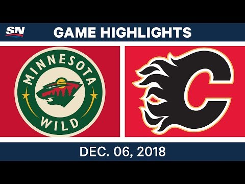 NHL Highlights | Wild vs. Flames - Dec 6, 2018