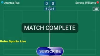 RUS vs S. WILLIAMS Live Now Wimbledon 2018 - Score