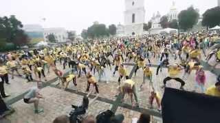 Рывок - разминка на Софийской площади