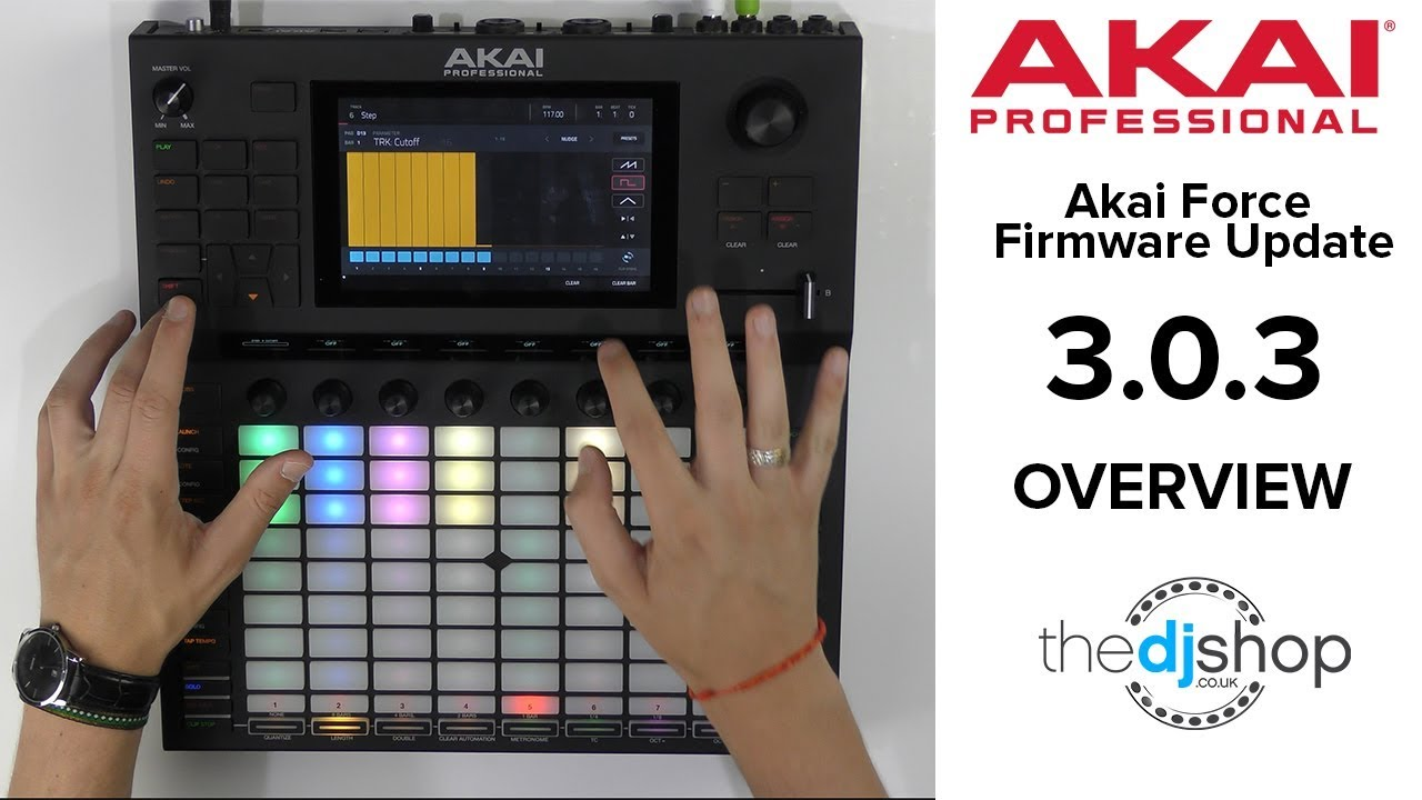 Akai Firmware Updates MPC Version 2 6 and FORCE Version 3 0 3