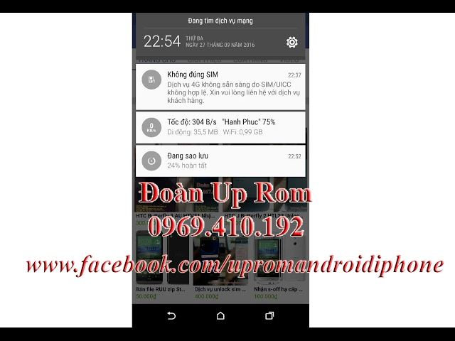 Điện thoại/Tablet - Đoàn Up Rom Nhận up rom repair imei unlock sim