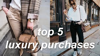 MY TOP 5 LUXURY/DESIGNER PURCHASES | Lucy Love