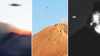 Multiple UFOs over Volcano Colima & Popocatépetl in Mexico (Compilation) - FindingUFO