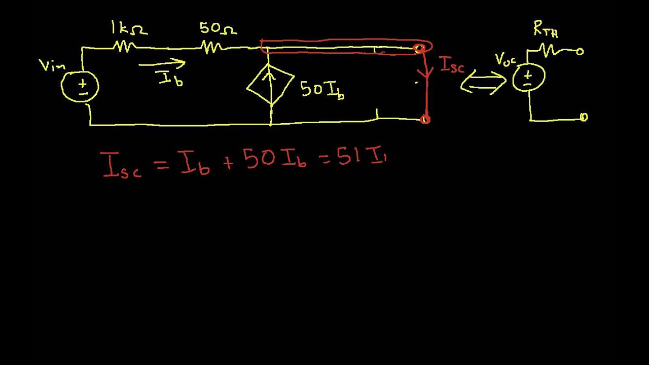 Thevenins Theorem Independent And Dependent Source Youtube Learn About Thevenin Circuits