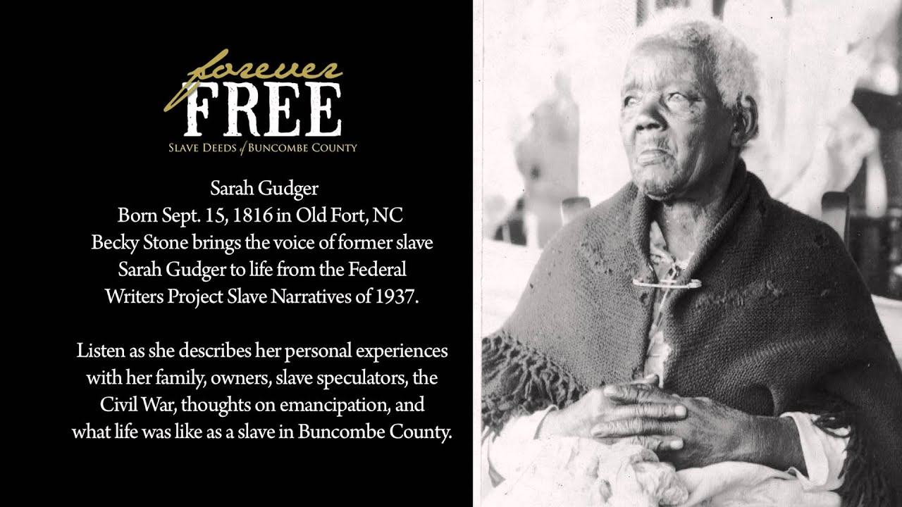slave narrative sarah garner What emerges is a myriad of tales, some disturbing, some amusing, some reflecting on life as a slave, some discussing life after emancipation sarah garner.