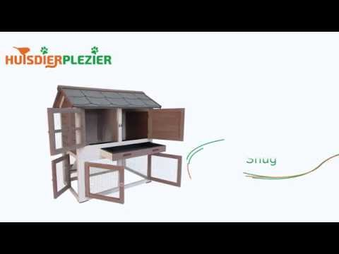 Huisdierplezier.nl | Konijnenhok Snug | Konijnenhok bouwen