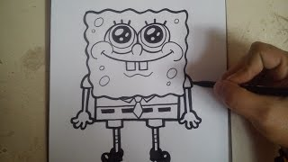 COMO DIBUJAR A BOB ESPONJA / how to draw sponge bob