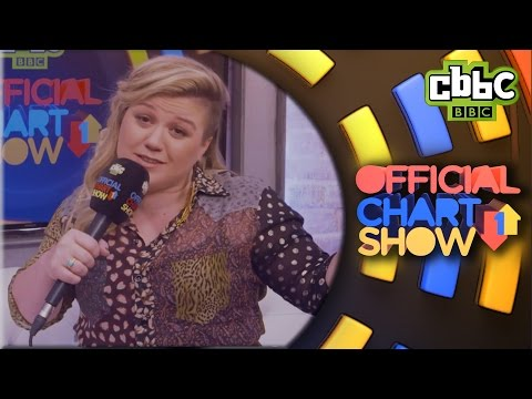 Kelly Clarkson interviews herself on the CBBC Official Chart Show