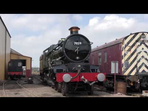 7029 Clun Castle at Tyseley Locomotive works - 15/04/18