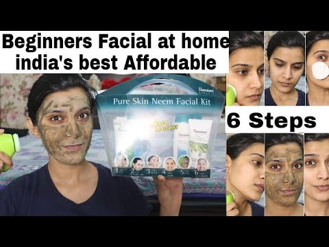 Beginners/Teenage Facial Routine  at Home| Himalaya Pure Skin Neem Facial Kit Review  Demo