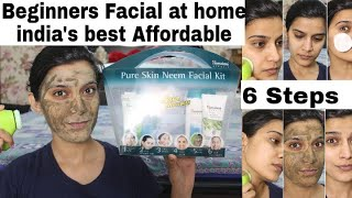 Beginners/Teenage Facial Routine  at Home| Himalaya Pure Skin Neem Facial Kit Review  Demo