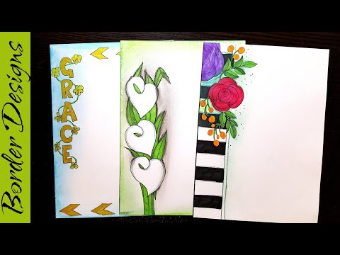 Flowers Border Designs On Paper Border Designs Project Work Designs Borders For Projects Youtube