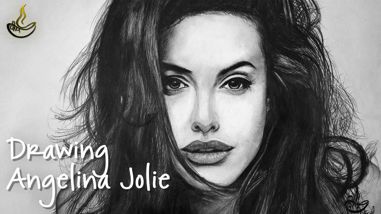 Drawing Angelina Jolie : Sketch #6