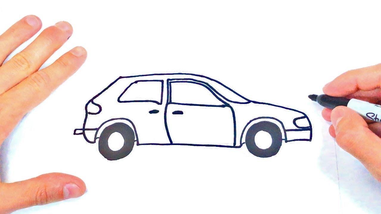 Cómo dibujar un Carro Paso a Paso   Dibujo de Carro - YouTube