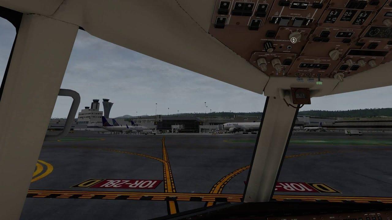 X-Plane 10   Flight Factor B757   KATL - KSFO   Part 2/2