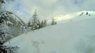 Skiing Rougemont (Switzerland). Amazing Powder day. Thumbnail