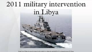 2011 military intervention in Libya