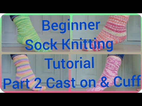 Sock Knitting Tutorial On 9 Circular Needles Cast On Part 1
