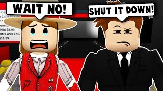 OPENING UP THE MOVIE THEATER Gone Wrong... (Roblox Bloxburg) Roblox Roleplay