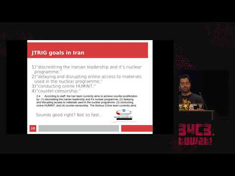 34C3 -  Uncovering British spies' web of sockpuppet social media personas - traduction française