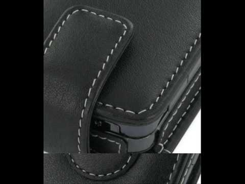 Leather Case for T-Mobile MDA Vario IV - Flip Type (Black)
